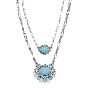 Chloe + Isabel Shoreside Two Row Pendant Necklace